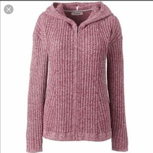 LANDS END Full-zip Cardigan Sweater -WORN ONCE!